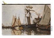 The Port Of Honfleur Carry-all Pouch by Claude Monet
