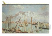 The Port Of Le Havre In The Afternoon Sun Carry-all Pouch by Camille Pissarro