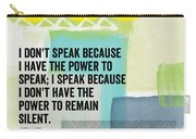 The Power To Speak- Contemporary Jewish Art By Linda Woods Carry-all Pouch