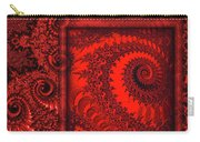 The Proper Victorian In Red  Carry-all Pouch