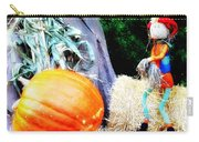 the Pumpkin and the Scarecrow Carry-all Pouch by Bill Cannon