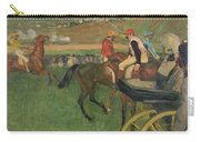 The Race Course Carry-all Pouch by Edgar Degas