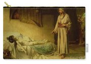 The Raising Of Jairus's Daughter Carry-all Pouch by George Percy Jacomb-Hood