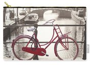 The Red Bicycle Of Amsterdam Carry-all Pouch