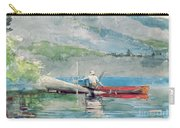 The Red Canoe Carry-all Pouch by Winslow Homer