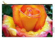 The Red Gold Rose Carry-all Pouch