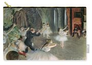 The Rehearsal Of The Ballet On Stage Carry-all Pouch by Edgar Degas