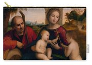 The Rest On The Flight Into Egypt With St. John The Baptist Carry-all Pouch