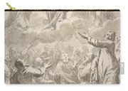 The Risen Christ Between The Virgin And St. Joseph Appearing To St. Peter And Other Apostles Carry-all Pouch