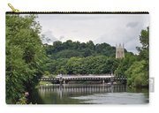 The River And Bridges At Burton On Trent Carry-all Pouch