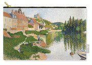 The River Bank Carry-all Pouch by Paul Signac