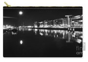 The River Liffey Night Romance Bw Carry-all Pouch