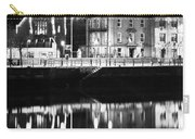 The River Liffey Reflections Bw Carry-all Pouch