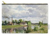 The River Oise Near Pontoise Carry-all Pouch by Camille Pissarro