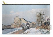 The Road From Gisors To Pontoise Carry-all Pouch by Camille Pissarro