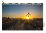 The Road To Joshua Tree At Sunset Carry-all Pouch