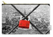 The Romantically Love Inscribed Padlocks On The Eiffel Tower, Pa Carry-all Pouch