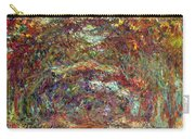 The Rose Path Giverny Carry-all Pouch by Claude Monet