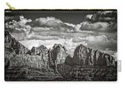 The Rugged Red Rocks In Black And White  Carry-all Pouch