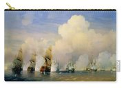 The Russo Swedish Sea War Near Kronstadt In 1790  Carry-all Pouch by Aleksei Petrovich Bogolyubov