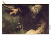 The Sacrifice Of Abraham Carry-all Pouch by Rembrandt