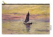 The Sailing Boat Evening Effect Carry-all Pouch by Claude Monet