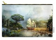 Sailing Boat In The Lake Carry-all Pouch