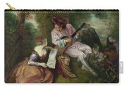 The Scale Of Love Carry-all Pouch by Jean-Antoine Watteau