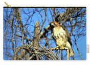 The Search Red Tail Hawk Art Carry-all Pouch