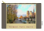 The Seine And Quay Beside Notre Dame, Autumn Cover Art Carry-all Pouch
