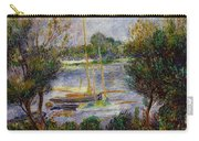 The Seine At Argenteuil Carry-all Pouch by Pierre Auguste Renoir