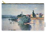 The Seine At Lavacourt Carry-all Pouch by Claude Monet