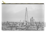 The Shard Outline Poster Bw Carry-all Pouch