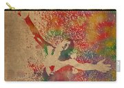 The Shawshank Redemption Movie Inspired Watercolor Portrait Of Tim Robbins On Worn Distressed Canvas Carry-all Pouch