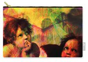 The Sistine Modonna Baby Angels In Abstract Space 20150622 Square Carry-all Pouch