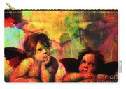The Sistine Modonna Baby Angels In Abstract Space 20150622 Carry-all Pouch