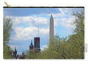The Smithsonian Castle And Washington Monument In Green Carry-all Pouch