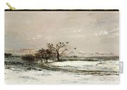 The Snow Carry-all Pouch by Charles Francois Daubigny