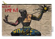 The Spirit Of Detroit Statue Recycled Michigan License Plate Art Homage Carry-all Pouch