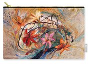 The Splash Of Life 17. Humming-bird And Exotic Flowers Carry-all Pouch