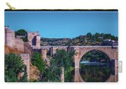 The St. Martin Bridge Over The Tagus River In Toledo Carry-all Pouch