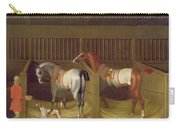 The Stables And Two Famous Running Horses Belonging To His Grace - The Duke Of Bolton Carry-all Pouch