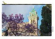 The Steeple Of The Valldemossa Charterhouse In Spring Carry-all Pouch