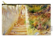 The Steps In Algiers Carry-all Pouch by Pierre Auguste Renoir