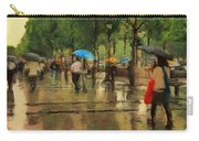 The Streets Of Paris In The Rain Carry-all Pouch
