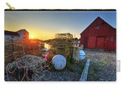 The Sun Rising By Motif 1 In Rockport Ma Bearskin Neck Lobster Traps Carry-all Pouch