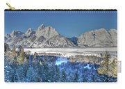 The Sun Rising On The Tetons Carry-all Pouch