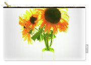 The Sunflowers In A Glass Vase. Carry-all Pouch