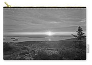 The Sunrise From Cadillac Mountain In Acadia National Park Black And White Carry-all Pouch