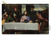 The Supper At Emmaus Carry-all Pouch by Titian